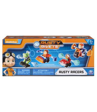 Rusty Rivets - Rusty Racer 4-Pack Bundle, Racer Figures with Bonus Parts, for Ages 3 and Up
