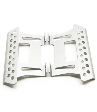 MOHERO Alloy Side Pedal Plates #E for 1:10 Axial SCX10 RC Crawler Car Pack of 2 (Silver)