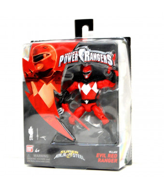 "Power Rangers Super Ninja Steel 5"" Action Figure, Evil Red Ranger"