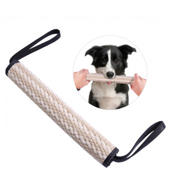 UEETEK Dog Bite Tug Toy Fetch Toy with 2 Handles Bite Pillow for Training Sporting and Interaction Tugging Outside for Adult Dogs And Puppies