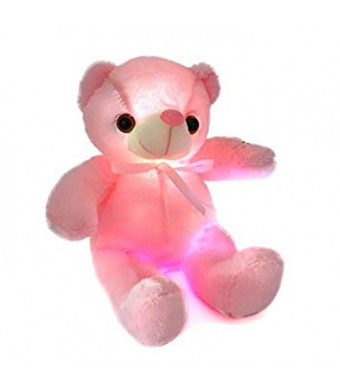 """13"""" LED Light Up Teddy Bear, Super Cute LED 7 Colors Changing Stuffed Plush Teddy Bear Baby Comforter Toys Birthday Gift"""