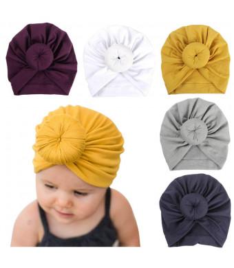 Newborn Baby Cotton Cloth Turban Toddler Rabbit Hospital Hat Ear Hat Kids Set Head Cap