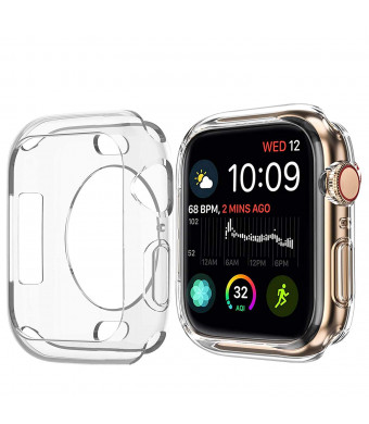 BOTOMALL for Apple Watch Case 38mm 42mm, Clear Soft Protector Cover Case for iWatch Series 3, Series 2 Nike+, Sport, Edition (Clear 2pack, 38mm)