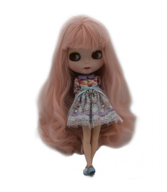 1/6 BJD Doll is Similar to Neo Blythe, 4-Color Changing Eyes Matte Face and Ball Jointed Body Dolls, 12 Inch Customized Dolls Can Changed Makeup and Dress DIY, Nude Doll Sold Exclude Clothes (SNO.5)
