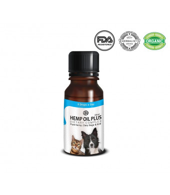 TerraBella Omega 3, 6 and 9 for Your Dogs, Cats, Fish 30ml. Advanced Formula Natural Organic Pure Hemp Extract, Krill Oil, Clary Sage Relaxation, Wellness, Heart Health, Antioxidants, Weight Management
