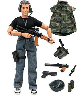 """Click N' Play CNP30459 Military Green Beret Elite Swat Unit 12"""" Action Figure Play Set with Accessories,, Brown"""