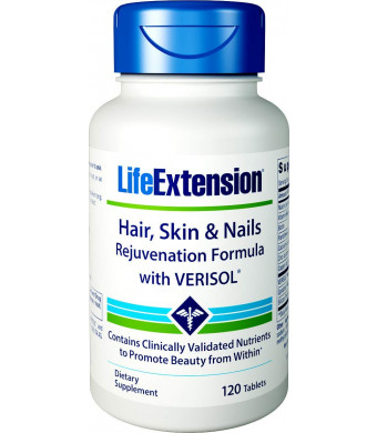 Life Extension Life Extension Hair, Skin and Nails Rejuvenation Formula with Verisol, 120 Tablets