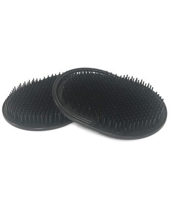 GBS Pet Brush, Black Shampoo Brush Scalp Massager Hair Remover Comb Dog and Cat Grooming Brush, Pet Hair Brush Cleaning Slicker Brush Removes Tangles Lint Brush for Pet Hair (2 PCS)