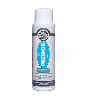 PRODOR Prebiotic Anti Itch Shampoo - for Dogs with Dry Skin and Sensitive Skin | A Natural Oatmeal Bath | Dog Probiotics Moisturize, Clean and Condition Hair | Coconut and Vanilla | Hypoallergenic 16 oz