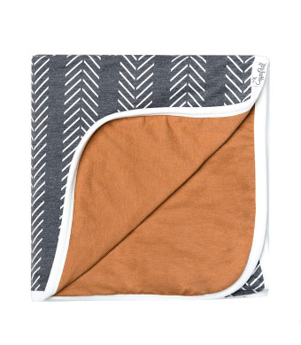 "Large Premium Knit Baby 3 Layer Stretchy Quilt Blanket""Canyon"" by Copper Pearl"