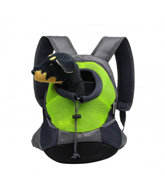 YAODHAOD Dog Cat Pet Carrier Backpack Pet Dog Cat Portable Backpack, Breathable Mesh, Adjustable Filled Shoulder Front Bag for Bicycle Hiking Outdoor