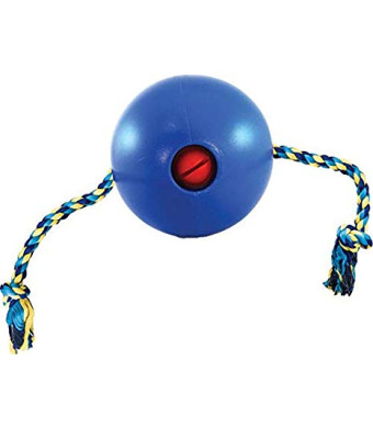 Ethical Dog-Tuggo Ball with Rope- Blue 4 Inch