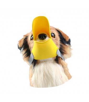 SINDBIN Duck Mouth Shape Anti-Biting Pet Muzzle Masks, Silicone Cat Mouth Covers,Adjustable Dog Puppy Mouth Set Bite-proof