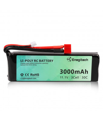 3S Lipo Battery - Energy tech RC Battery 11.1V 30C 3000mAh with Deans-T Plug for RC Car Airplane Helicopter FPV Boat Drone
