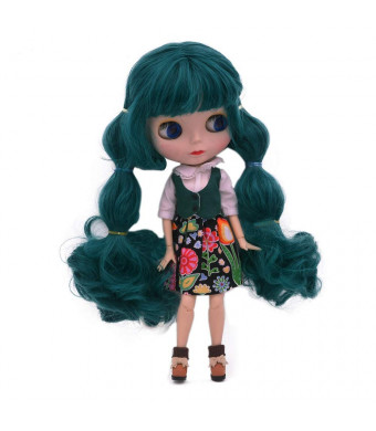 1/6 BJD Doll is Similar to Neo Blythe, 4-Color Changing Eyes Matte Face and Ball Jointed Body Dolls, 12 Inch Customized Dolls Can Changed Makeup and Dress DIY, Nude Doll Sold Exclude Clothes(SNO.1)