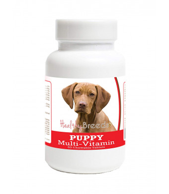 Healthy Breeds Puppy Multivitamin Chewable Tablets - Veterinarian Formulated Daily Dietary Supplement - Over 100 Breeds - Tasty Liver Flavor - 60 Chews