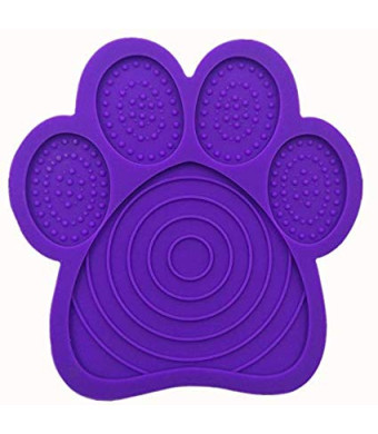 Bath Buddy-Lick Lick pad for Dog- Bath Buddy for Dogs,Absorbable Slow Feeders,Distraction Device to Make Bath time Happy,The Power Grip Suction Cup on The Back