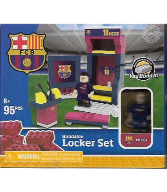 Buildable Locker Set FC Barcelona Messi 95 Pieces