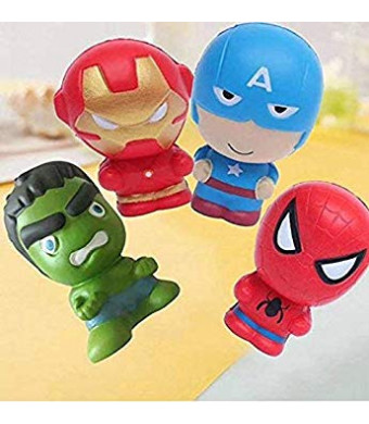 Comic Ease Squishies Slow Rising Marvel Avengers Super Hero Kawaii New Unique Squishy Stress Relief Figures (Hulk)