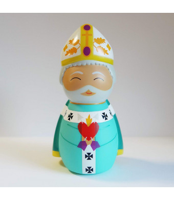 Shining Light Dolls St. Augustine of Hippo Collectible Vinyl Figure with Story and Prayer Card