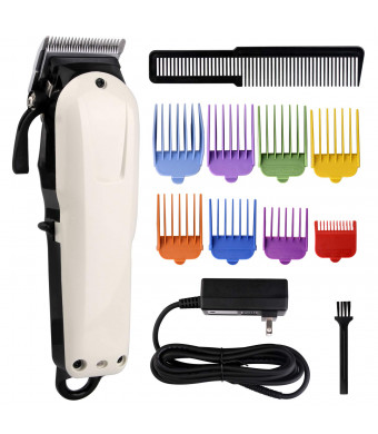 Dog Clippers Professional Pet Grooming Clippers Cordless Rechargeable Dog Hair Clippers Electric Low Noise Dog Hair Trimmer with 8 Guide Combs for Small/Large Dog, Cats, Horses and Coats