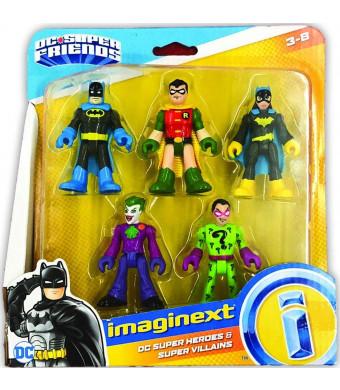 Fisher-Price Imaginext DC Heroes and Super Villains Batman Robin Batgirl Joker Riddler