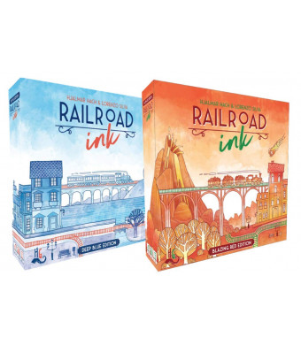 Railroad Ink: Red and Blue Game Set