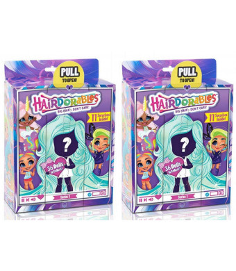 Hairdorables Dolls Bundle (2 Pack) Collectible Series 1 Surprise Doll (Styles May Vary)