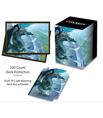 DragonLegends M19 Arcades The Strategist Deck Protector and Deck Box Combo (100 Count) for MTG