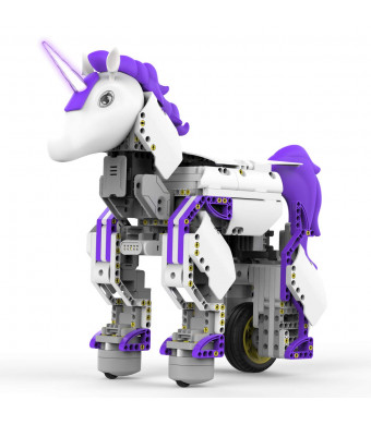 UBTECH JRA0201 JIMU Robot Mythical Series: Unicornbot Kit-App-Enabled Building and Coding Stem Learning Kit, 440Piece, Purple
