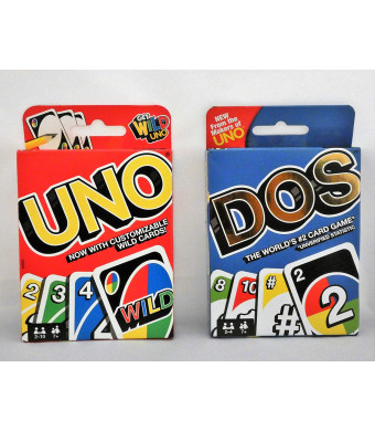 Uno Card Game Bundled with Dos Card Game
