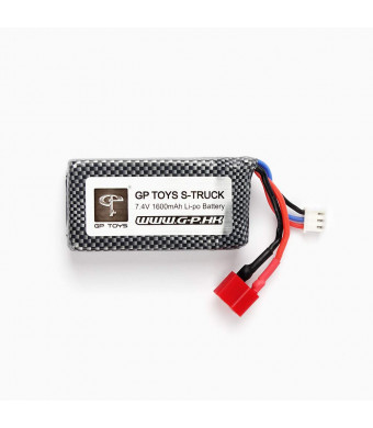 GPTOYS RC Cars Replacement Battery, 1600mAh Li-po Rechargeable Battery for S920 RC Truggy High Speed Truck Accessory Supplies