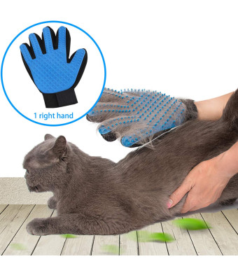 SSRIVER Pet Grooming Glove Hair Remover Brush Gentle Deshedding Efficient Pet Mitt Pet Massage Gloves Left and Right Hand Draw Dog Cat Horse Long Short Fur