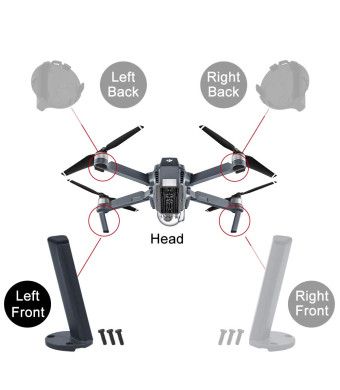 HeiyRC Landing Gear Kits for DJI Mavic pro,Left Front Leg for Repairing,Replacement Foot Kits