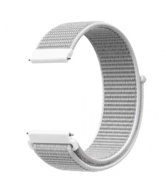 Morningwell 20mm Nylon Sport Loop Hook Smartwatch Replacement Strap Bands with Adjustable Closure, for Galaxy Watch 42mm and Gear Sport and S2 Classic Watch (Seashell)