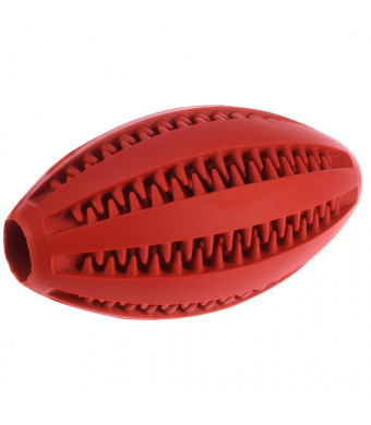 Dog Toys, Active Chewing Dog Toy Toothbrush Instead of Natural Brushing Teeth Elastic Rubber Ball Dog Massage Gums Gums Cleaning Treatment Ball Red