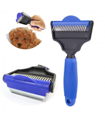 Tiger Eyes Multi-Functional Pet Comb and Grooming Brush, Self Cleaning Dogs, Cats, Pet Hair Remover