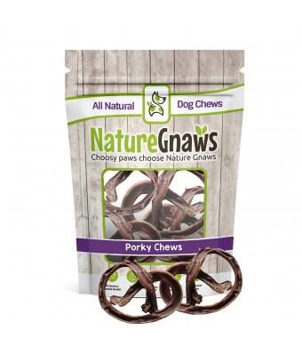Nature Gnaws Porky Pretzels - 100% Natural Dog Chews for Small Dogs