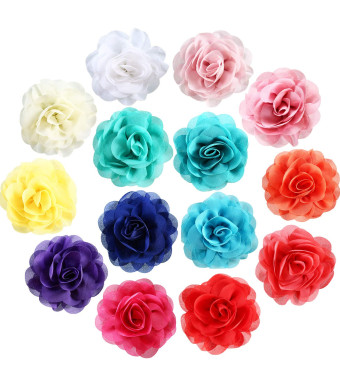 Leinuosen 14 Pieces Dog Collar Flowers Pet Bow Tie Flower Collars for Puppy Collar Grooming Accessories