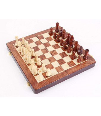 """HOLYKING Chess Set Fold Board Game Large Travel Set 11.8""""  11.8"""" Educational Learning Developmental Toys for Kids Adults"""