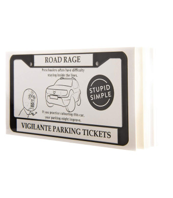 Vigilante Justice Novelty Joke Parking Tickets Road Rage Made Funny This Funny Parking Ticket Will Let Bad Drivers Know Exactly What Society Thinks of Them 10 Different Designs (50 Pages)