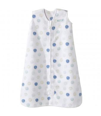Halo Sleepsack Microfleece Wearable Blanket, Swirl Circles Blue, X-Large
