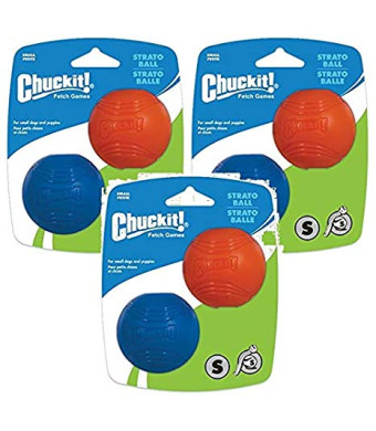 Chuckit! 6 Pack Small Strato Balls, 2 Balls Per Pack