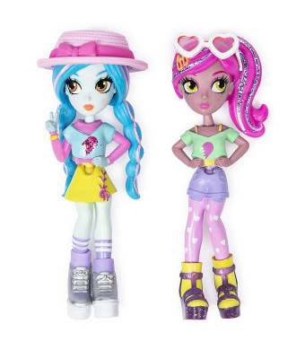 Off the Hook Style BFFs, Vivian and Mila (Summer Vacay), 4-inch Small Dolls with Mix and Match Fashions and Accessories, for Girls Aged 5 and Up