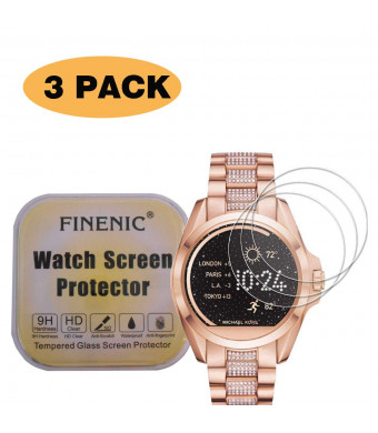 FINENIC3-Pack Compatible for Michael Kors smartwatch Screen Protector Compatible for Michael Kors Bradshaw Screen Protector MKT5001/MKT5004/MKT5006/MKT5012/MKT5013