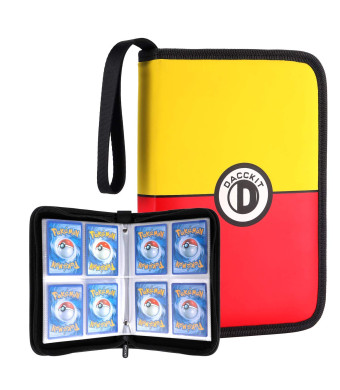 DACCKIT Carrying Case Compatible with Pokemon Trading Cards, Cards Collectors Album with 20 Premium 4-Pocket Pages, Holds Up to 320 Cards