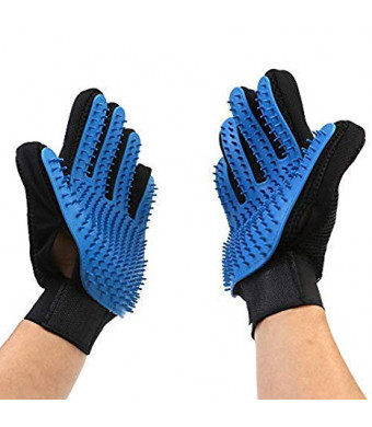JAWLY Pet Hair Remover - Dog Grooming Kit Glove - Pet Shedding Tools Brush - Cat Hair Removal Glove - Upgraded Version 259 Gentle Massage Tips - Small, Medium, Large Pet Ninja Styling Tools