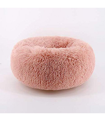 Orchid Stone Concise Style Round Donut Pet Bed,Comfortable and Warm Cuddler,Four Seasons Universal Cushion, Thick Full Plush Fur, Close-Fitting Protection Cozy