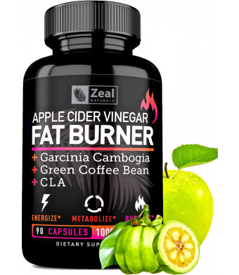 Apple Cider Vinegar Weight Loss Pills for Women - Garcinia Cambogia + Apple Cider Vinegar Pills for Weight Loss w. CLA and Green Coffee Bean Green Tea Fat Burner Pills - Detox Cleanse Weight Loss Pills
