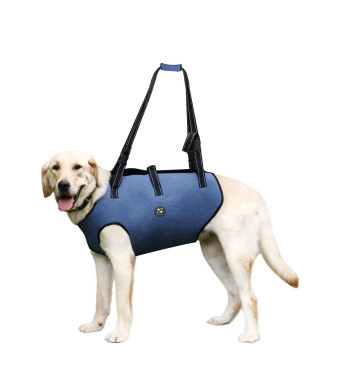 Coodeo Dog Lift Harness, Pet Support and Rehabilitation Sling Lift Adjustable Vest Breathable Straps for Old, Disabled, Joint Injuries, Arthritis, Loss of Stability Dogs Walk